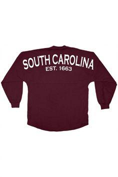 c12e39b6a South Carolina - Est. 1663 - Classic Crew Neck Spirit Jersey® Maroon-XSM