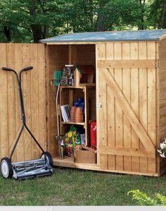 10 free garden sheds plans and ideas for keeping gardening equipment, supplies and other spare items.