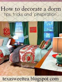 Texasweettea: Dorm Sweet Dorm // Some great tips for your Baylor dorm!