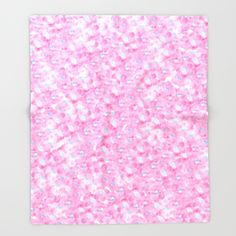 Hand painted pink blue watercolor hortensia floral Throw Blanket
