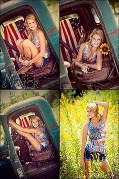 senior picture field truck awesome poses 'merica American Flag Marci Ralph Photography Marci and Victor Photography