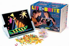 Lite Brite Everyone probably has a childhood memory of putting colored plastic pegs into a board and watching them light up. The Lite Brite was a childhood staple, but now you'll have to pay out the nose for that nostalgia 90s Childhood, Childhood Memories, Lite Brite, Popular Toys, 90s Kids, Classic Toys, Old Toys, Colorful Pictures, Magical Pictures