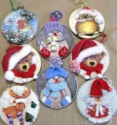 ❤ Karácsonyfadíszek CD lemezekből szalvétatechnikával (decoupage) ❤Mindy -  kreatív ötletek és dekorációk minden napra