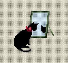 黒猫の図案1   Atelier Daisy                                                                                                                                                     もっと見る
