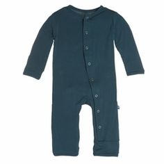 Kickee Pants Solid Coverall in Peacock