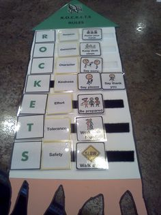 R.O.C.K.E.T.S. Behavior Interactive Picture Sequence Task! FREE! at http://www.teacherspayteachers.com/Product/ROCKETS-Rules-Flashcards-for-Autism-393956