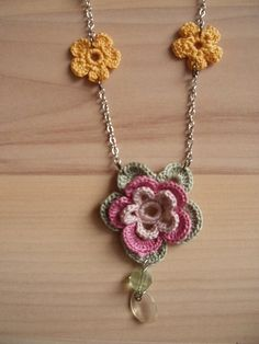 A Lovely Picot Flower Necklace to Crochet ~ The Beading Gem's Journal