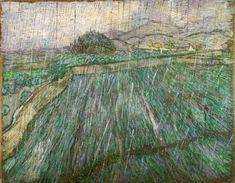 "Vincent van Gogh  ""Wheat Field in Rain"" (1889)"