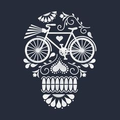 Check out this awesome 'Bicycle+skull' design on @TeePublic!