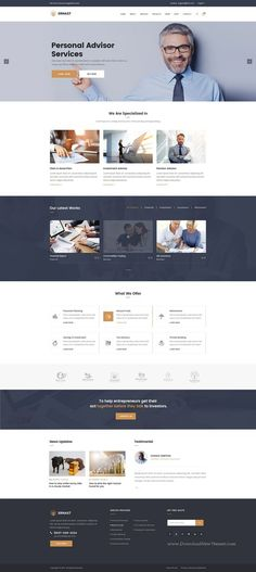 Ernast : Finance PSD Template suitable for all types of consulting businesses website.: