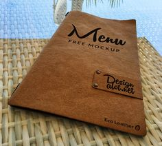 I am happy to present today's newest mockup, an Eco Leather Menu Free Mockup, perfect for restaurants, cafes, bars or any similar… Carta Restaurant, Restaurant Menu Card, Restaurant Identity, Restaurant Menu Design, Bar Menu, Speisenkarten Designs, Wood Menu, Menu Book, Coffee Shop Bar