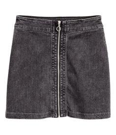 Denim skirt | Dark grey | Ladies | H&M AU