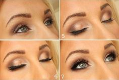 Image via How to Apply Smokey Eyeshadow Step by Step Image via See make-up ideas Step by Step. Make-up in purple and blue tones. Image via Make-up lessons for beginners as beautif Smokey Eyeshadow, Smokey Eye Makeup, Romantic Eye Makeup, Smokey Eye Steps, Smoky Eye Tutorial, Everyday Eye Makeup, Eyeshadow Step By Step, Makeup Lessons, How To Apply Makeup