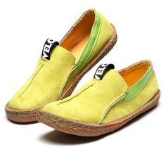 Hot-sale Suede Pure Color Slip On Stitching Flat Soft Shoes For Women - NewChic Mobile version.