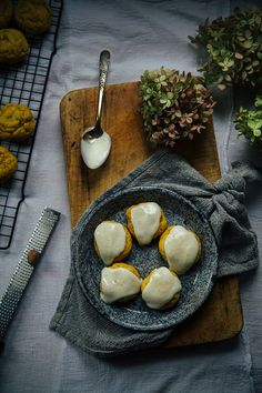 vegan pumpkin cookies w/ cream cheese glaze for Baked - the blog