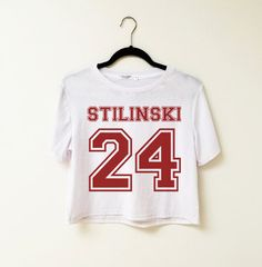 Stilinski 24 Teen Wolf Crop Tees by infinityowlapparel on Etsy