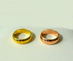 Gold Plated Ring Band Thumb Yellow/Rose Unisex 6.5, 7.5, 8, 8.5 ,9.5, 10, 10.5