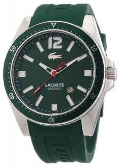 Relógio Lacoste Men's 2010663 Seattle Green Stainless Steel Watch #Relógio #Lacoste