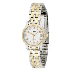 Timex Women's Analog Bi-Metal Case Bracelet Dress Watch * Visit the image link more details. Timex Watches, Wrist Watches, Metal Bands, Night Light, Bracelet Watch, Stainless Steel, Bracelets, Stuff To Buy, Accessories