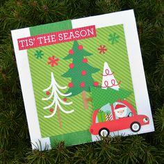 Here Comes Santa Claus - Doodlebug Christmas Cards - Process Video