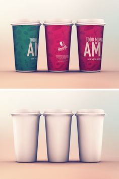 Cups MockUp PSD | GraphicBurger