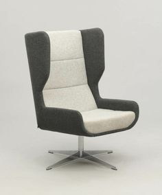 hush chair in two tone upholstery on a swivel base @naughtone_ @workspacevison