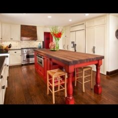 Red Island w/ built in table....LOVE!!!