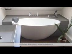 Einbau der frei stehenden Badewanne BW-04 - YouTube