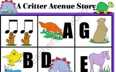 Critter Avenue from Solo Time Music Games on TeachersNotebook.com -  (11 pages) Music Ed, Music Games, Music Class, Teacher Notebook, Kids Education, Teaching, Activities, My Love, Piano