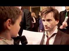 David interviewed by a wee reporter for The Pirates - Band of Misfits. Absolutely *adorable* the way he gets down on their level and treats them so seriously.