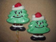1 Dog Safe Chocolate gourmet christmas santa tree Rawhide lollipop Lollipops