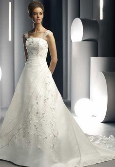 A-line/Princess Square Chapel  Bridal Gowns