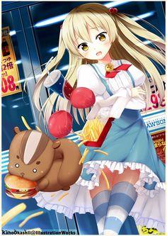 Himeki Chifuyu - Inou Battle wa Nichijou-kei no Naka de - Image - Zerochan Anime Image Board Nichijou, Loli Kawaii, Kawaii Anime, Manga Anime, Anime Art, Manga Covers, Pretty And Cute, Character Concept, Anime Love