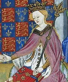 Margaret of Anjou was the wife of King Henry VI. She was Queen consort of England from 1445 to 1461 and again from 1470 to 1471. She was one of the principal figures in the series of dynastic civil wars known as the Wars of the Roses and at times personally led the Lancastrian faction. Due to her husband's frequent bouts of insanity, Margaret ruled the kingdom in his place.