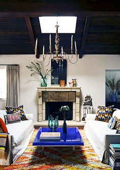 6 Things Every Stylish Person Has At Home//Jeffrey Alan Marks, Yves Klein coffee table, Mexican serape