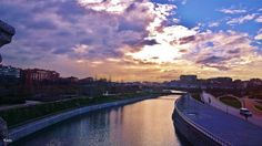 Amanecer .Parque de la Arganzuela Madrid