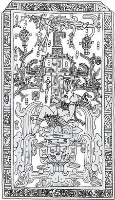 Pakal's sarcophagus lid - Google Search