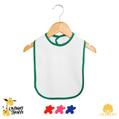 7f648290bae Ringer Baby Bibs with Velcro Closures SKU  LG2460 100% Cotton Interlock knit.  Designed for  screen printing