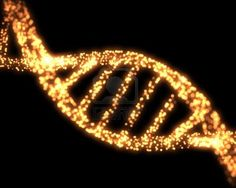 Orange DNA Helix Background Stock Photo