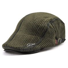 99be8d4e140aa ... Hat online shopping at GearBest.com Mobile. See more. Only $1.42,buy  JAMONT Thicken Keep Warm Knitted Peaked Cap for Men at GearBest Store