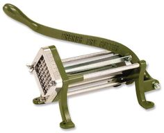 """Royal Potato Cutter - ROY FC 1/4 Potato Cutter, 1/4"""" cut size, stainless steel """"V"""" trough, heavy duty cast iron frame, mounting holes, long ..."""