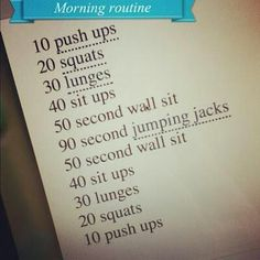 a Morning Workout~ #fitness #exercise #health