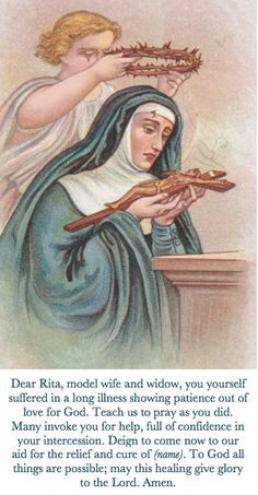 Catholic Christian — Prayer to St. Rita Catholic Christian — Prayer to St. Religion Catolica, Catholic Religion, Catholic Saints, Roman Catholic, Patron Saints, Santa Rita De Cascia, St Rita Of Cascia, Novena Prayers, Catholic Prayers