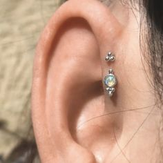 Helix tattoo and ear