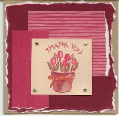 Tulip Thank you- challenge #3 by gremhog - Cards and Paper Crafts at Splitcoaststampers