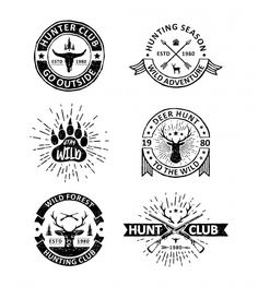 Set of vintage hunting badges Premium Vector Retro Background, Background Patterns, Textured Background, Free Vector Illustration, City Illustration, Memphis Pattern, How To Age Paper, Memphis Design, Wedding Card Design