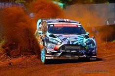 Ken Block spits dust from under his Ford Fiesta ST  GRC 2013 ☆ Pinned by www.Rallycross360...