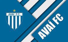 تحميل خلفيات Avaí FC, فلوريانوبوليس, سانتا كاتارينا, 4k, البرازيلي لكرة القدم, تصميم المواد, الأزرق الأبيض التجريد, دوري الدرجة الاولى الايطالي, كرة القدم