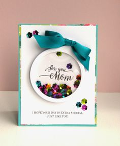 Another spectacular shaker card design! By K and R Designs
