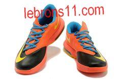 6444acdbd4e Kevin Durant 6 Black Blue Team Orange Yellow Shoes